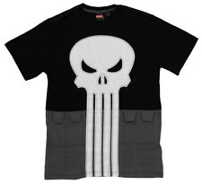 The Punisher Marvel Comics Embroidered Logo Utility Belt Adult T-Shirt Tee