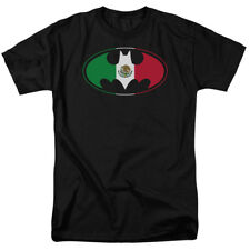 Batman Logo Mexican Flag DC Comics Superhero T-Shirt Tee