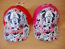 GIRLS DISNEY MINNIE MOUSE BASEBALL CAP HAT PINK RED APPROX AGES 2-4 4-8 YEARS