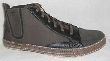 NIB CUSHE SHUMAKER MARK HI LEATHER CHARCOAL SNEAKER SHOES CHUKKA BOOTS
