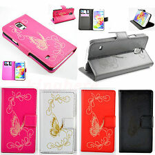 Stand Butterfly Leather Wallet Flip Cover Case For Samsung Galaxy SV S5 I9600