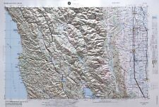 UKIAH REGIONAL Raised Relief Map in the state of CA