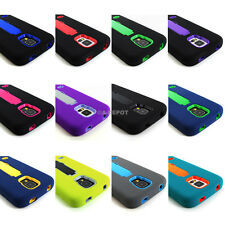 For Samsung Galaxy S V S5 Impact Skin Case Silicone Armor Stand+Screen Protector