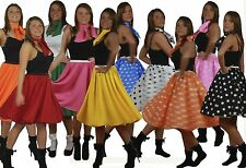 1950s 1960s Rock & Roll Skirts 50s Full Circle Skirt & Scarf Set 22 inch