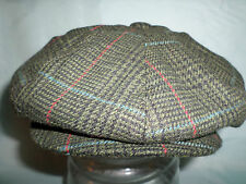 GREEN CHECK WOOL 1900.S 1920,S 1930,S VICTORIAN EDWARDIAN PEAKY BLINDERS CAP