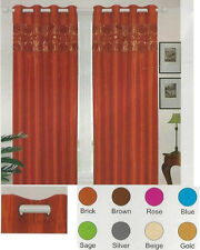 """Eve Glitter Sequins Bling Grommet Top Curtain Panel 55"""" W x 84"""" L"""