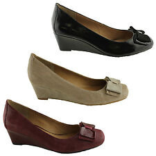 ZENSU INSPIRE LADIES LEATHER SMALL WEDGE HEEL SHOES/WORK/CASUAL/COMFORTABLE
