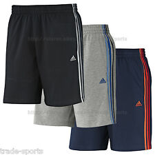 adidas MENS SHORTS CLIMA COTTON SIZE S M L XL FITNESS TRAINING 3 STRIPES HEAVY