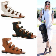 Womens Ladies girls Fisherman gladiator leather style buckle Sandals Shoes size