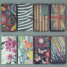 Leather Flip Flower Handbag Wallet Pouch Card Clip Stand Hard Skin Case Cover
