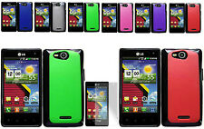Any PC+TPU Hard Case+Free SP For LG Optimus Exceed VS840PP Verizon Phone