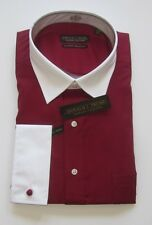 "Donald Trump Two-Tone French Cuff No-Iron ""Cardinal"" Red Dress Shirt"