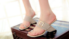 Womens Mules Hollow Out Less Heel Flip Flops Slippers Open Toe Buckle Sandals
