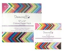 DOVECRAFT SCRAPBOOKING COLOURED PAPER PACKS SQUARE ASSORTED COLOURS ACID FREE