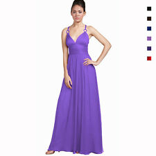 Elegant Chiffon Triple Spaghetti Formal Evening Gown Bridesmaid Dress ed9501