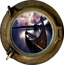 Huge 3D Porthole Enchanted River Sky View Wall Stickers Film Mural Art Decal