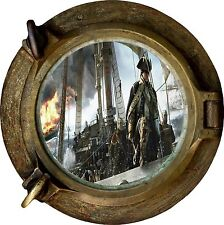 Huge 3D Porthole Fantasy Ocean Adventure View Wall Stickers Film Decal Wallpaper