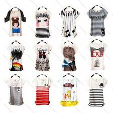 20 Styles Chic Print Softest Comfort Combed Cotton Urban Lady Blouse Top T-shirt