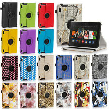 "Rotating PU Leather Smart Case Cover For Amazon Kindle Fire HD 7"" 2nd Gen 2013"