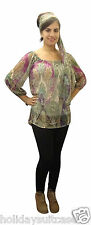 LADIES WOMANS SEXY OFF SHOULDER SUMMER EVENING CHIFFON TOP SIZE 10 TO 26 UK