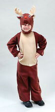 Fancy Dress Childs Kids Christmas Reindeer Costume Rudolf Fits 2-9 Year Olds