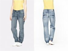 950. BENCH Headlight Cuffed Baggy Tomboy Ladies Jeans Blue RRP £62