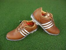 NEW ADIDAS PURE 360 GOLF SHOES (BROWN-WHITE) ADIDAS PURE 360 SHOES NEW