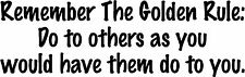 """Golden Rule Do Onto Other - 9"""" x 2.8"""" - Choose Color - Vinyl Decal Sticker #2546"""