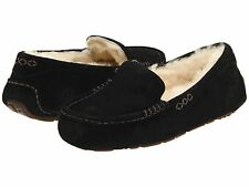 Ugg Australia Ansley Black 3312 Women Sheepskin Suede  Comfortable Slipper Shoes