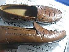 NIB NEW Brass Boot Men's NAPOLI LOAFER GENUINE Leather Slip On Shoe 93369