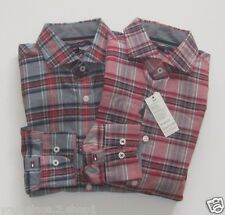 "Tommy Hilfiger Euro ""New York Fit"" Multi Plaid Button Front Light Weight Shirt"