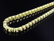 Mens or Ladies 10K Yellow Gold 4 MM Box Venetian 3D Chain Necklace 24-36 Inches
