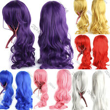 80cm Heat Resistant Anime Long Big Wavy Curly Cosplay Party Full Wig 13 Colors