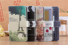 Eiffel Tower/Movie Video Tape/Game Wallet Flip PU Leather Case for HTC Phones