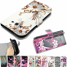 Wallet Flip Leather Phone Rubber Case Cover For Samsung Galaxy Grand Duos i9082