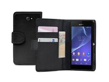 WALLET Leather Flip Case Cover Pouch Saver for Sony Xperia M2 experia
