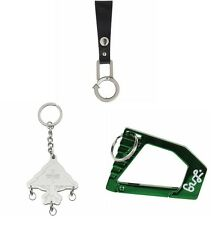 NEW LRG Tree Cycles 2 Leather Carabiner Clip Keychain Keyring