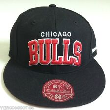 NBA Chicago Bulls Mitchell and Ness Arch Fitted Cap Hat M&N Hat NEW!!