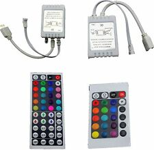 24/44 Key IR Remote Controller Box AC/DC 12V For LED RGB 3528/5050 Light Strip