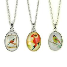 CUTE BIRD NECKLACE Jewelry Chain Pendant Pattern Songbird Parrot Cage Song Girl