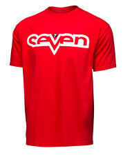 Troy Lee Designs Seven Brand Red Tee T-Shirt- #7 James Bubba Stewart- 5 Sizes