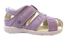 Umi Trieste Girls Baby Purple Leather Single Velcro Strap Closed Toe Sandals New