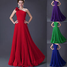 Long Pleated Chiffon Prom Bridal Bridesmaid Dress Evening Gown Cocktail Dresses