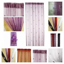 Romantic String Curtain With 3 Beads Door Window Panel Room Divider Decorative