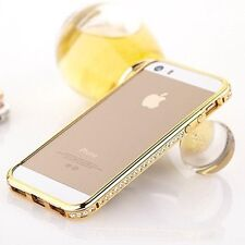 Crystal Rhinestone Diamond Bling Metal Case Cover Bumper for iPhone 4 S 5 S Hot