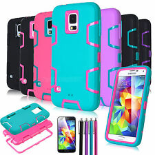 Shockproof Heavy Duty Impact Rugged Hard Case Cover for Samsung Galaxy S5 i9600