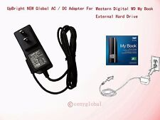 12V 2A AC Adapter Power Supply For Western Digital WD My Book Hard Drive HDD HD