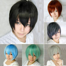 10 Colors New Fashion Boys/Girls Short Party Cosplay Wigs For Holiday Gifts NC11