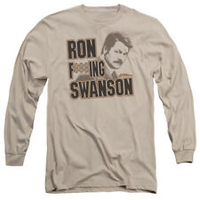 Parks And Recreation TV Series Ron F***Ing Swanson Adult Long Sleeve T-Shirt Tee