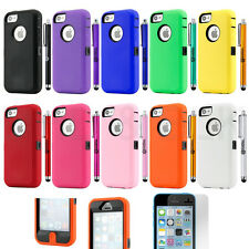 Hybrid Colorful Heavy Duty Dirt Proof Rugged Hard Case Cover For iPhone 5C C